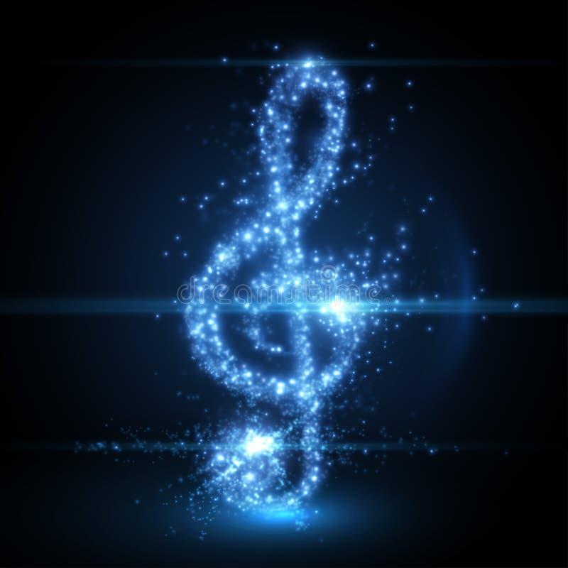 De abstracte achtergrond van de muzieksleutel Vector illustratie royalty-vrije illustratie