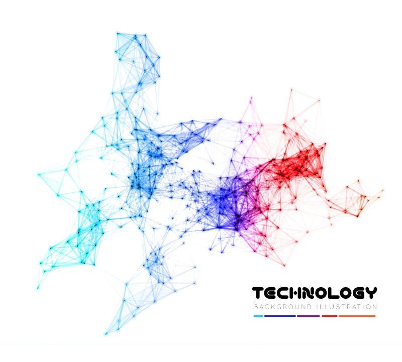 De abstracte achtergrond van de netwerkverbinding vector illustratie