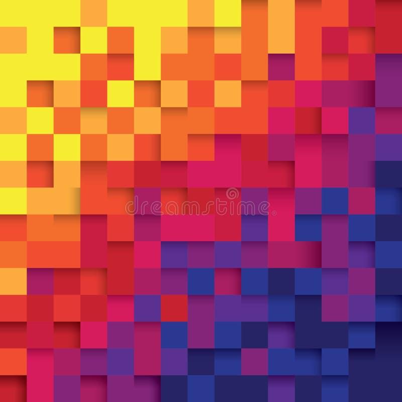 De abstracte achtergrond van de pixelkleur royalty-vrije illustratie