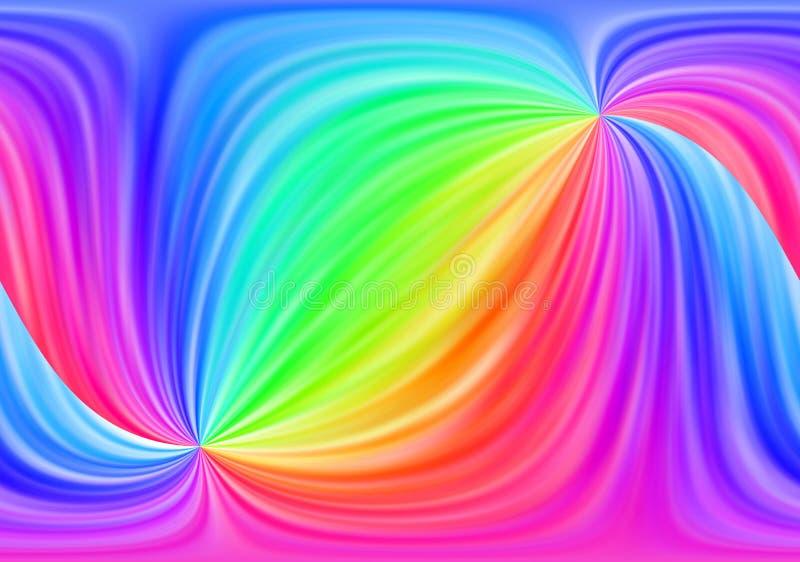 De abstracte achtergrond van de regenboog royalty-vrije illustratie