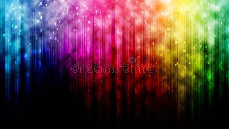 De abstracte achtergrond van de regenbooglijn bokeh stock fotografie