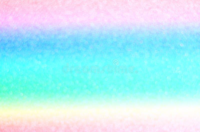 De abstracte achtergrond van de regenboogpastelkleur bokeh royalty-vrije stock afbeelding