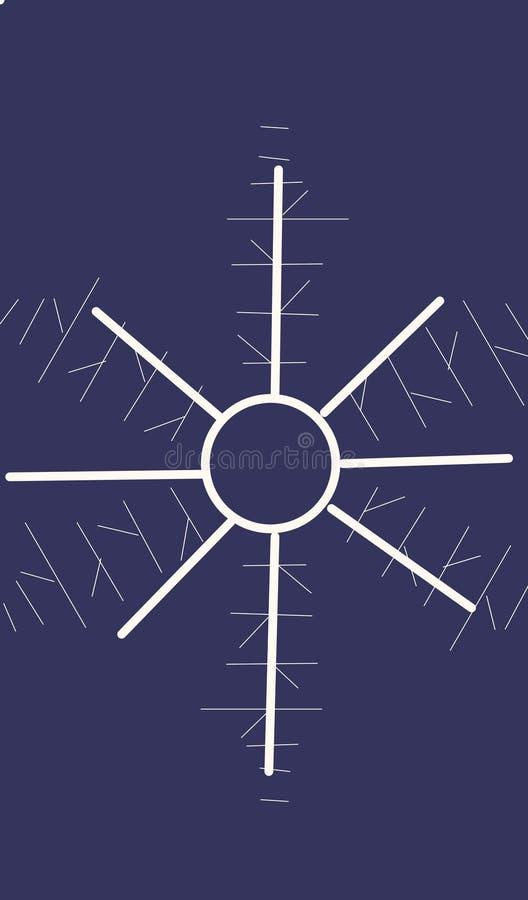 De abstracte achtergrond van de sneeuwvlok stock foto