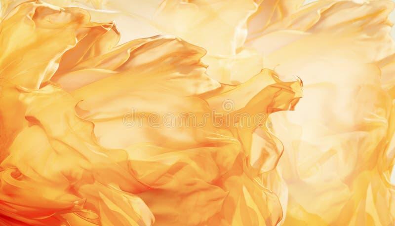 De abstracte Achtergrond van de Stoffenvlam, Artistieke het Golven Doekfractal stock afbeelding