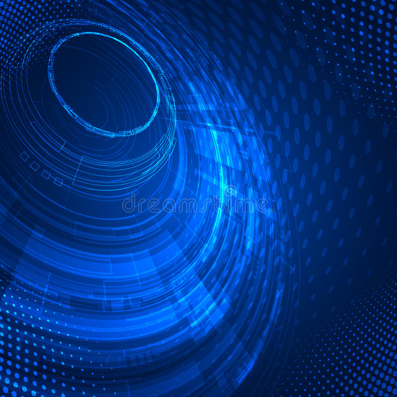 De abstracte Achtergrond van de Technologie royalty-vrije illustratie
