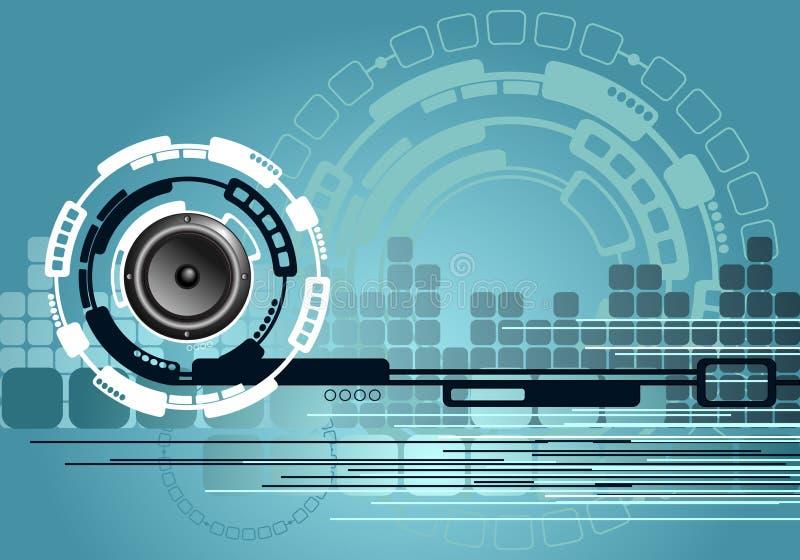 De abstracte Achtergrond van de Technologie van de Muziek stock illustratie