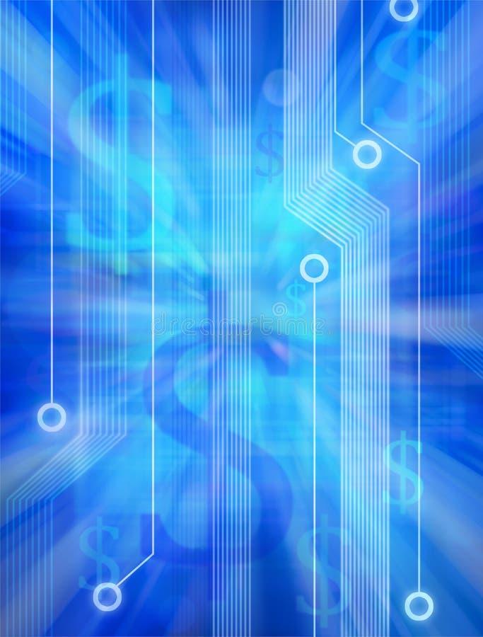 De Abstracte Achtergrond van de Technologie van het geld vector illustratie