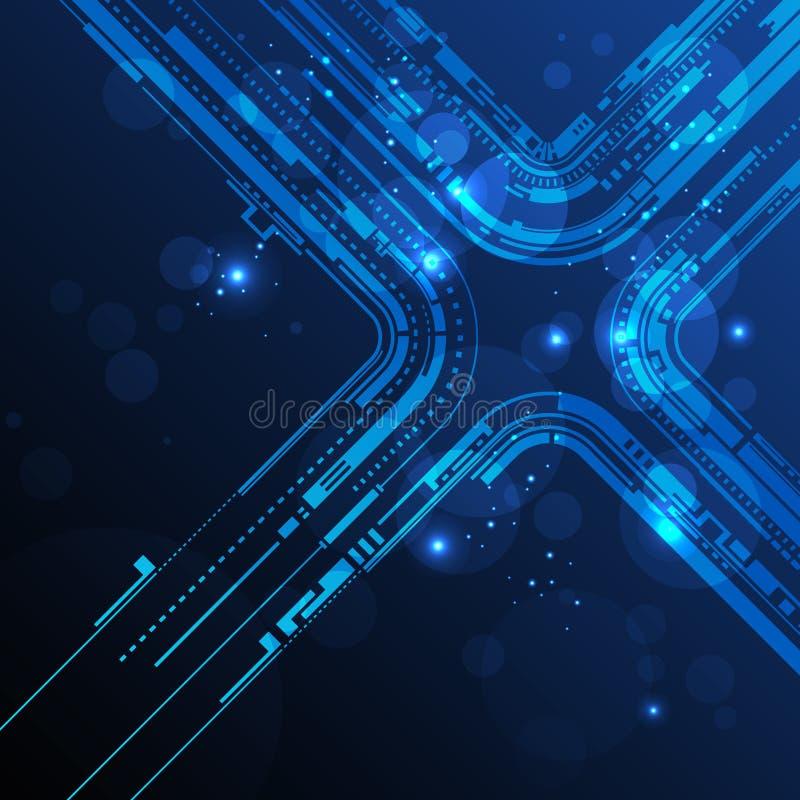 De abstracte achtergrond van de technologielijn