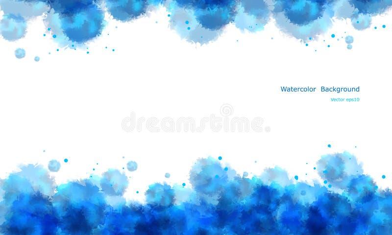 De abstracte achtergrond van de waterkleur. vector illustratie