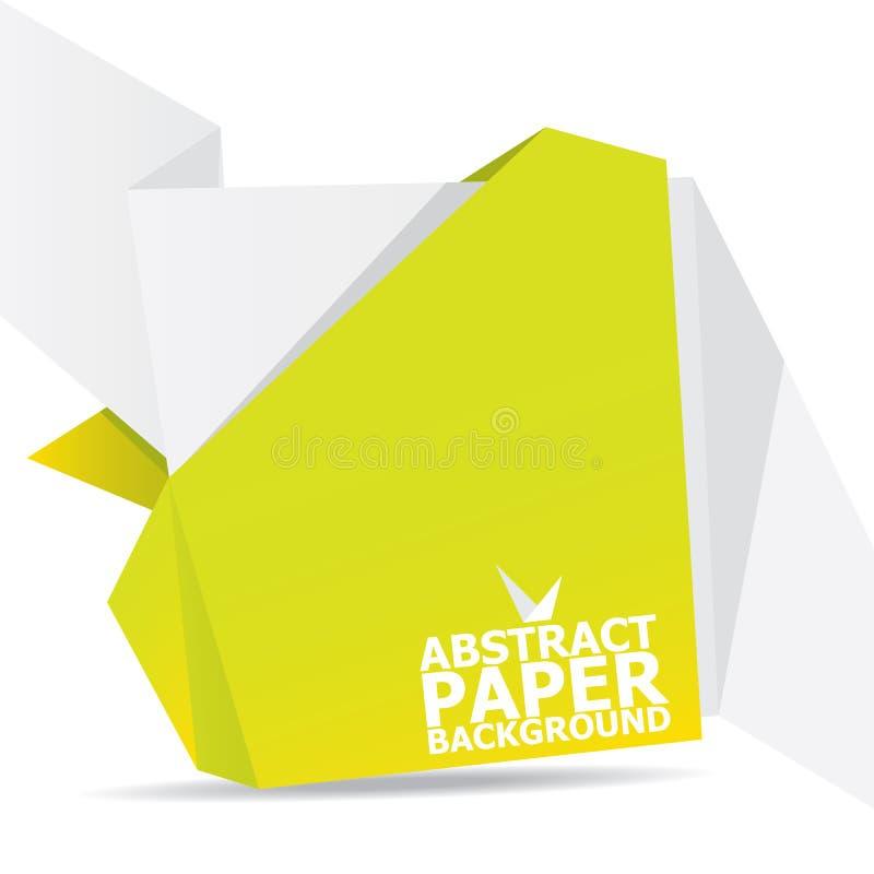 De abstracte achtergrond van de wit en Groenboekorigami. royalty-vrije illustratie