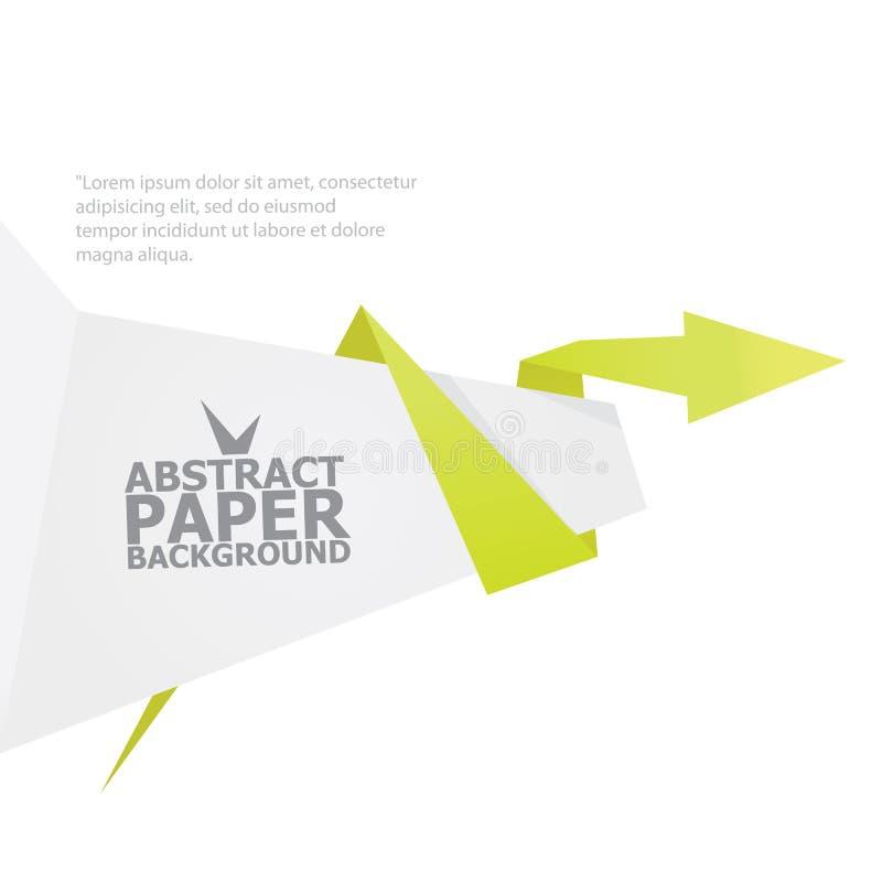 De abstracte achtergrond van de wit en Groenboekorigami. vector illustratie