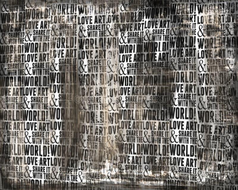 De abstracte achtergrond van de woordkunst royalty-vrije illustratie