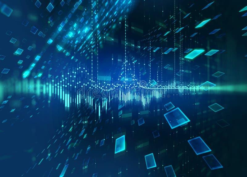 De abstracte achtergrond van de defocus digitale technologie stock illustratie