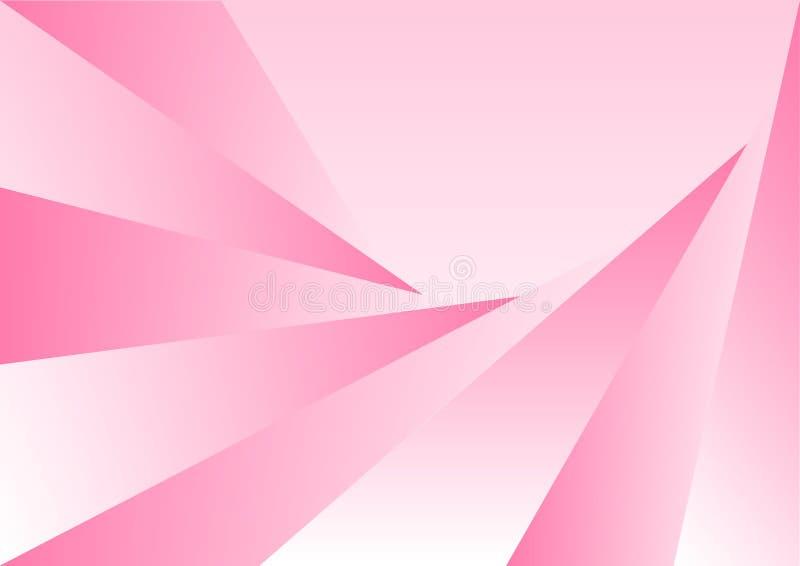 De abstracte Achtergrond van de de Driehoekentextuur van Gradated Roze vector illustratie