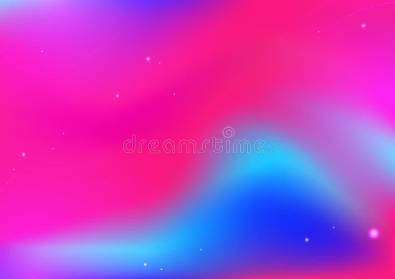 De abstracte achtergrond van de gradiënt roze en blauwe kleur stock illustratie
