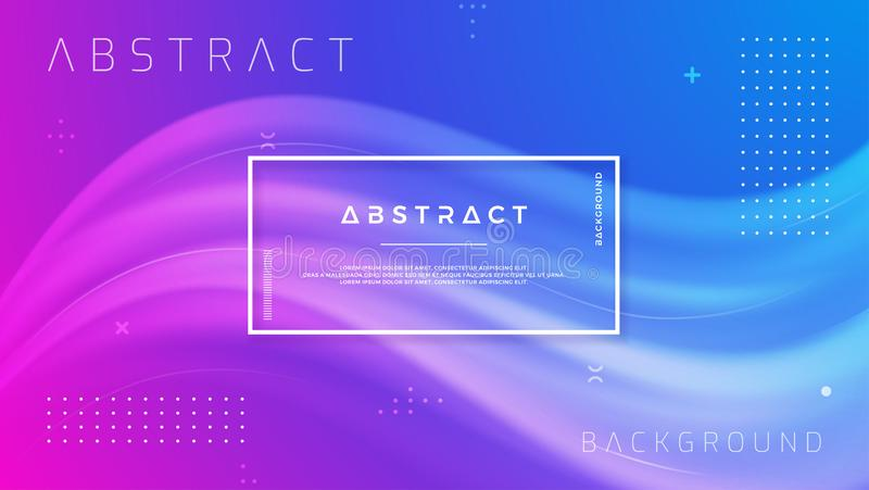 De abstracte Achtergrond van de Gradiëntgolf Dynamische achtergrondkleurenstroom EPS10 vectorillustratie royalty-vrije illustratie