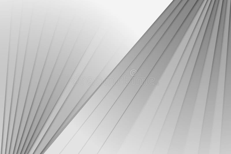 De abstracte achtergrond van Gray Oblique royalty-vrije illustratie