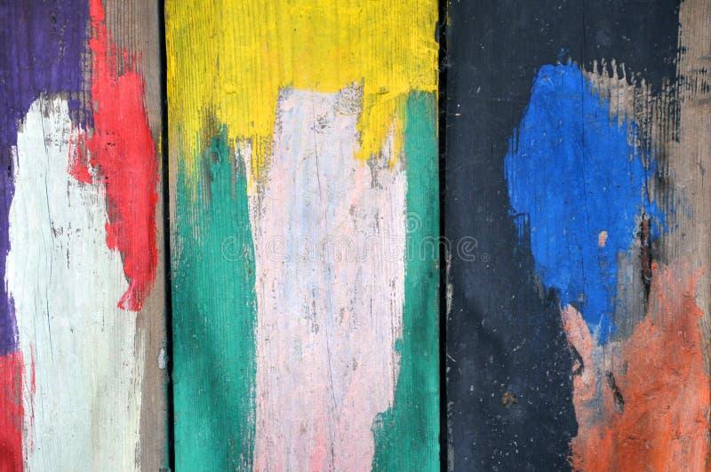 De abstracte achtergrond van de grunge houten textuur Raad met verf wordt gesmeerd die royalty-vrije stock afbeelding