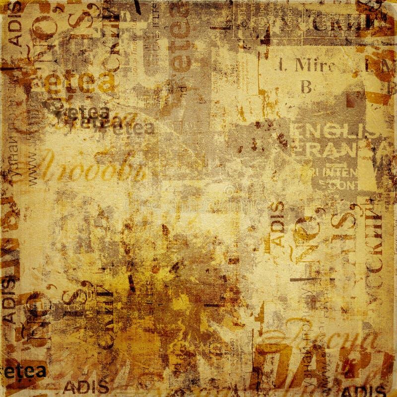 De abstracte achtergrond van Grunge met royalty-vrije illustratie