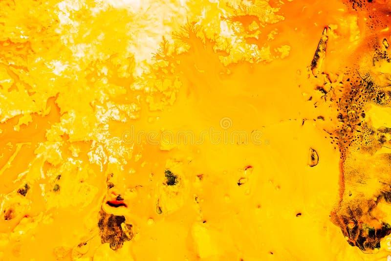 De abstracte achtergrond van de de herfst bos gele verf stock foto's
