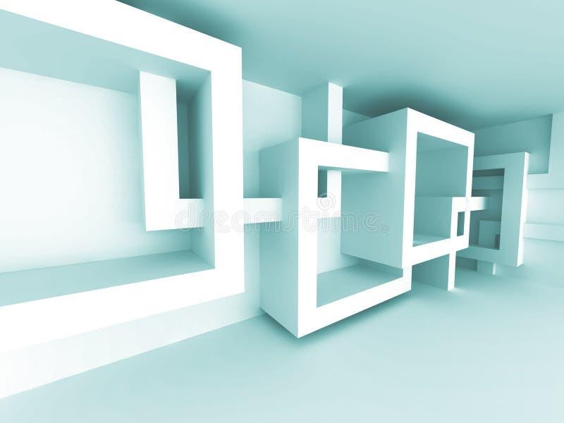 De abstracte Achtergrond van het Architectuur Binnenlandse Ontwerp stock illustratie