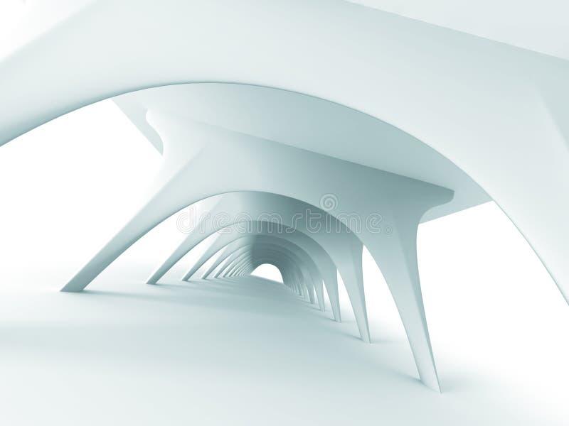 De abstracte Achtergrond van het Architectuur Futuristische Moderne Ontwerp stock illustratie