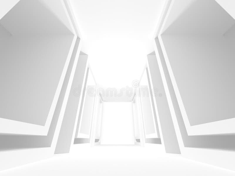 De abstracte Achtergrond van het Architectuur Moderne Ontwerp royalty-vrije illustratie