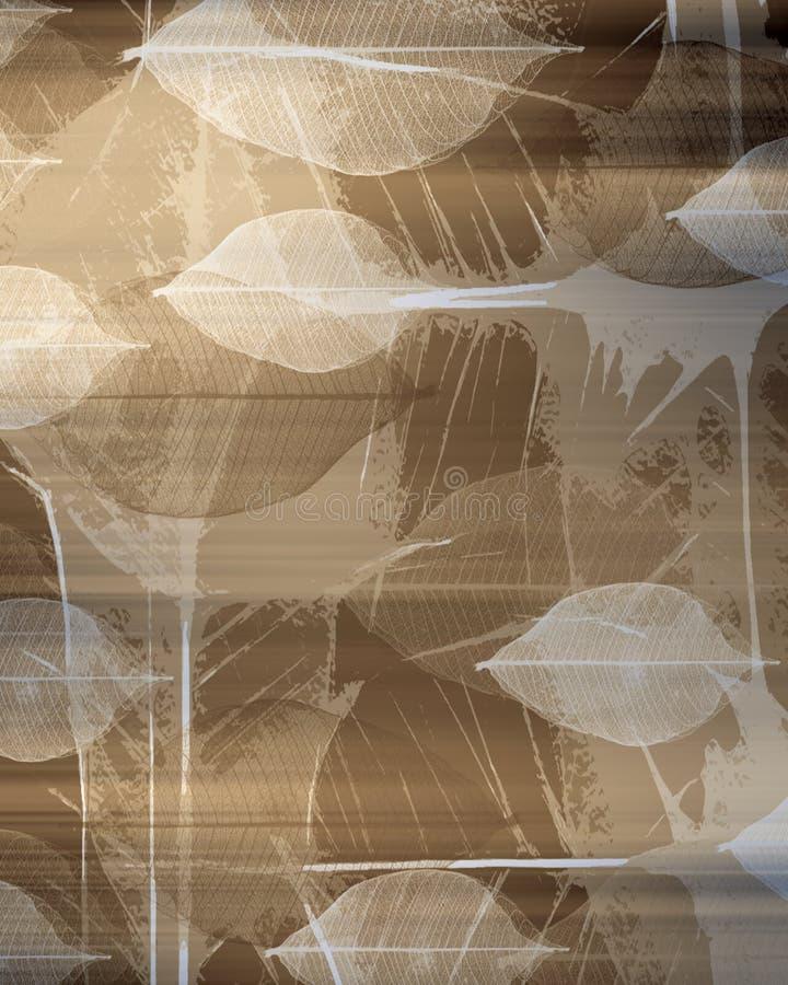 De abstracte achtergrond van het Blad vector illustratie