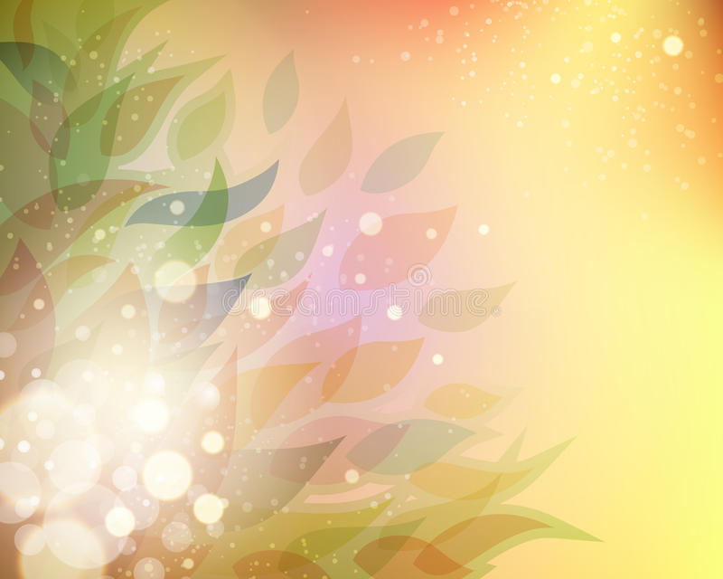 De abstracte achtergrond van het Blad stock illustratie