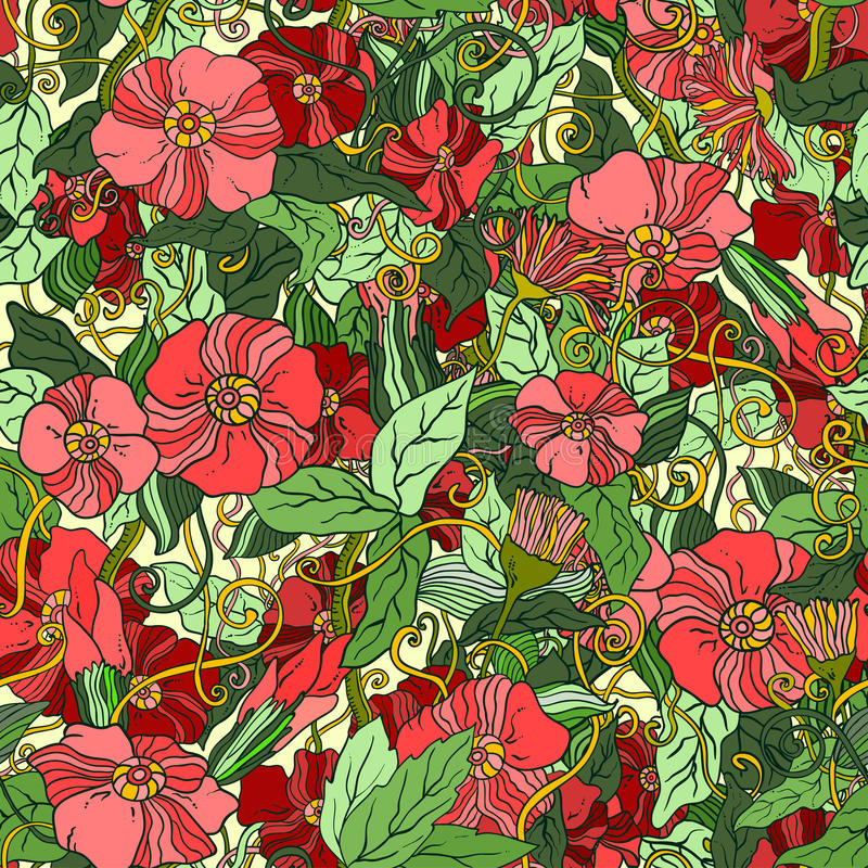 De abstracte achtergrond van het bloem naadloze patroon stock afbeeldingen