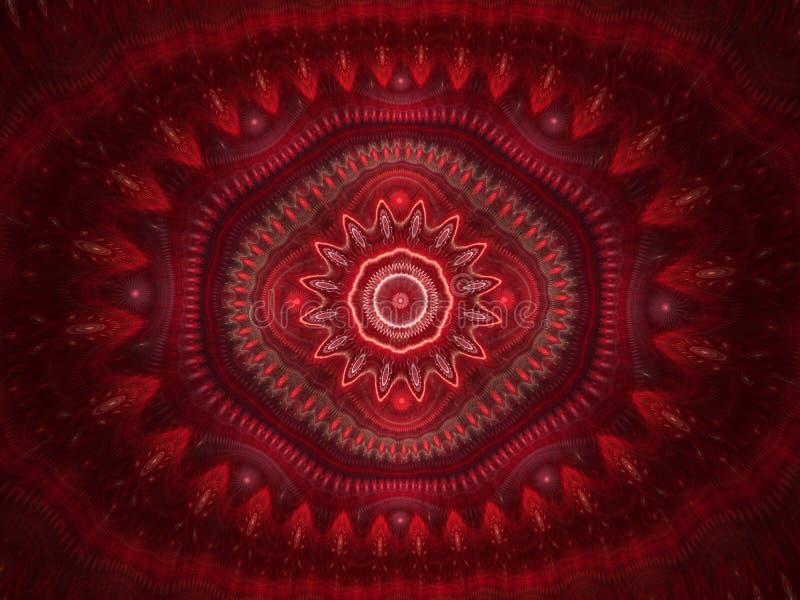 De abstracte achtergrond van het caleidoscooppatroon Geometrisch symmetrisch ornamentontwerp royalty-vrije illustratie
