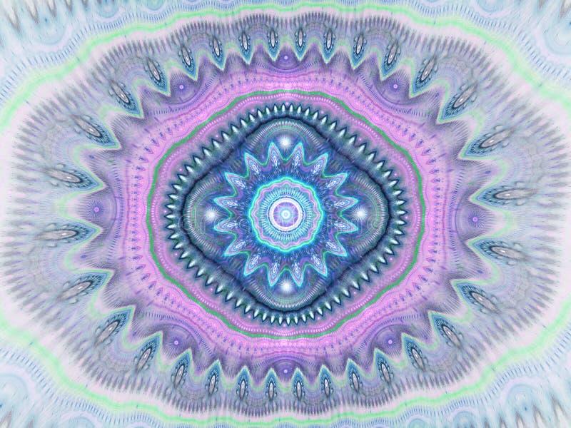 De abstracte achtergrond van het caleidoscooppatroon Geometrisch symmetrisch ornamentontwerp vector illustratie