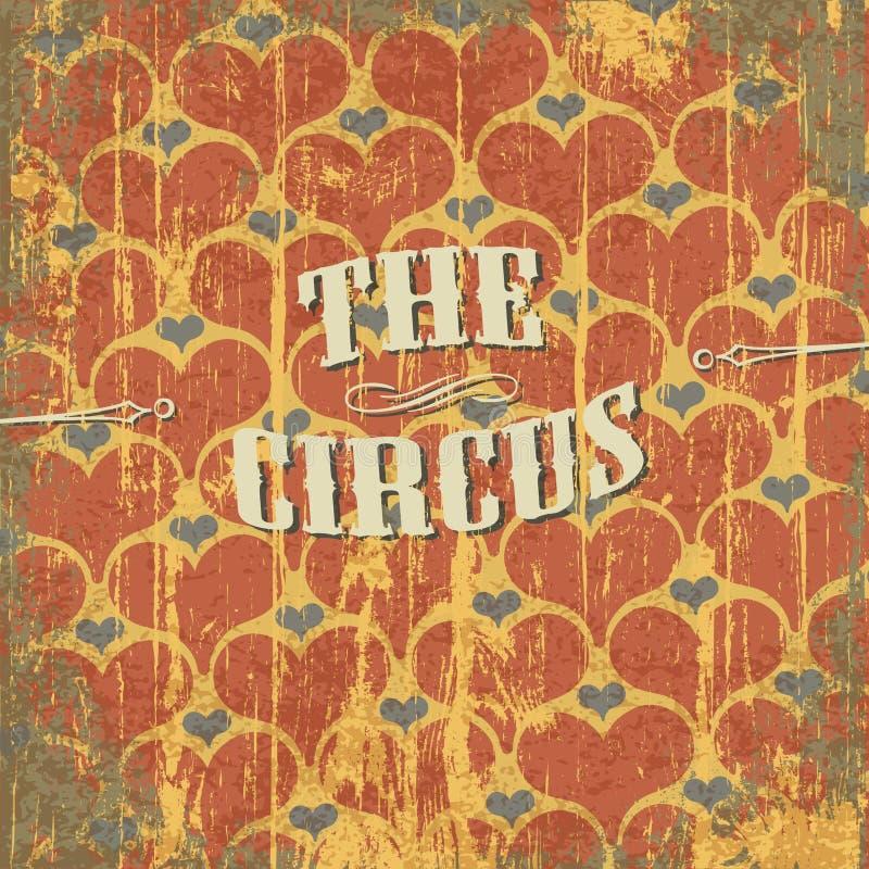De abstracte achtergrond van het circus royalty-vrije illustratie