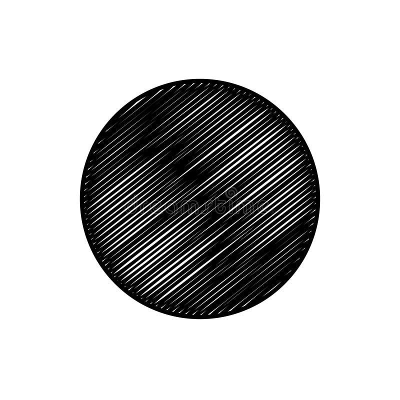 De abstracte Achtergrond van het Cirkelgekrabbel vector illustratie
