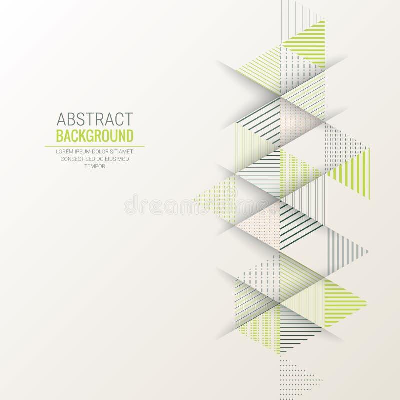 De abstracte achtergrond van het de streeppatroon van de driehoekslijn stock illustratie