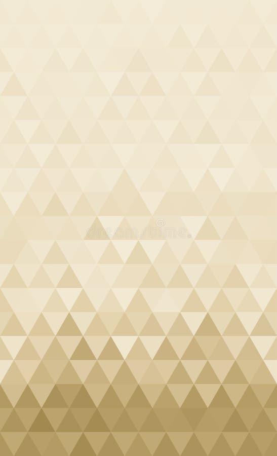 De abstracte achtergrond van het driehoeken horizontale ononderbroken patroon vector illustratie