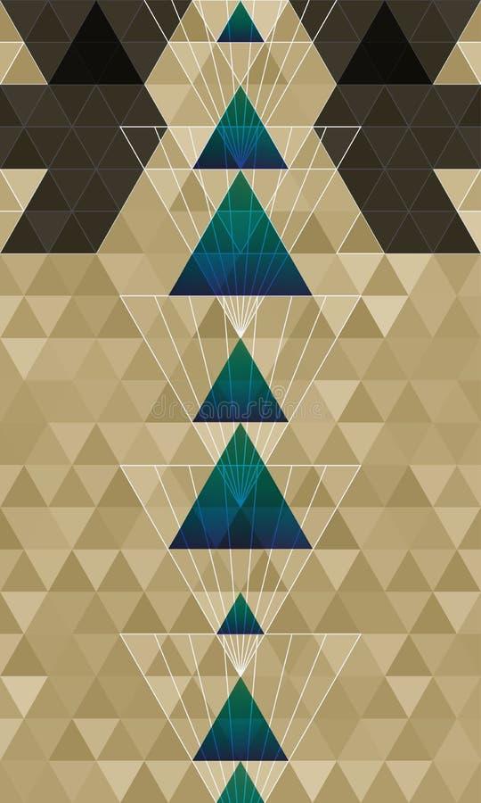 De abstracte achtergrond van het driehoeken horizontale patroon stock illustratie