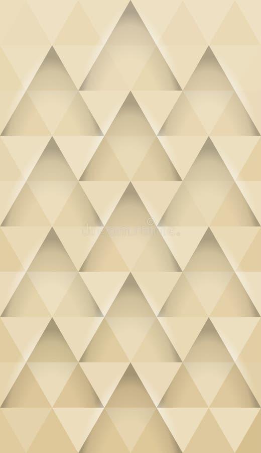 De abstracte achtergrond van het driehoeken horizontale patroon voor mobiel vector illustratie