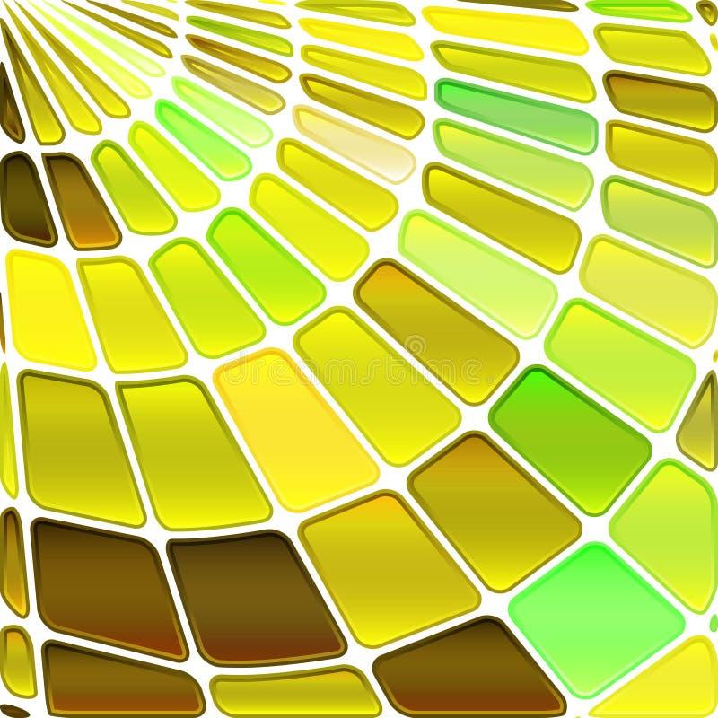 De abstracte achtergrond van het gebrandschilderd glasmozaïek royalty-vrije illustratie