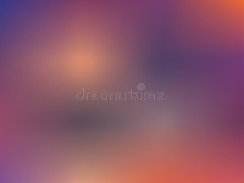 De abstracte achtergrond van het gradiëntnetwerk Vage heldere kleuren, kleurrijk regenboogpatroon Multicolored vloeibare vormen stock illustratie