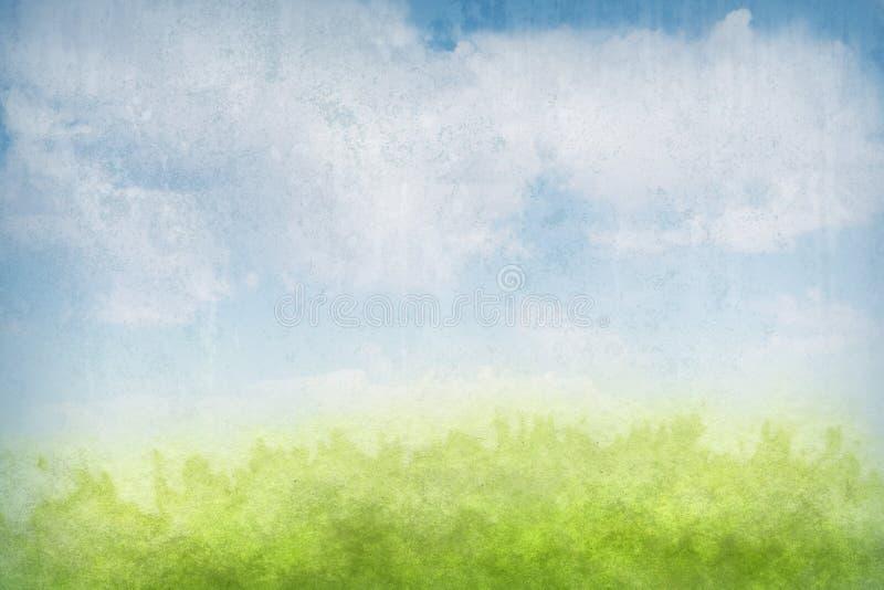 De abstracte achtergrond van het grungelandschap vector illustratie