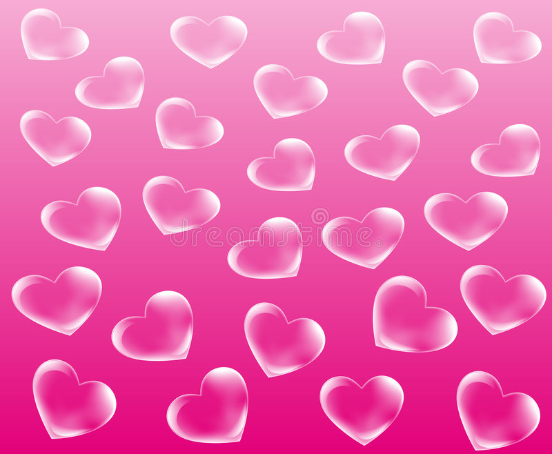 De abstracte achtergrond van het hart vector illustratie