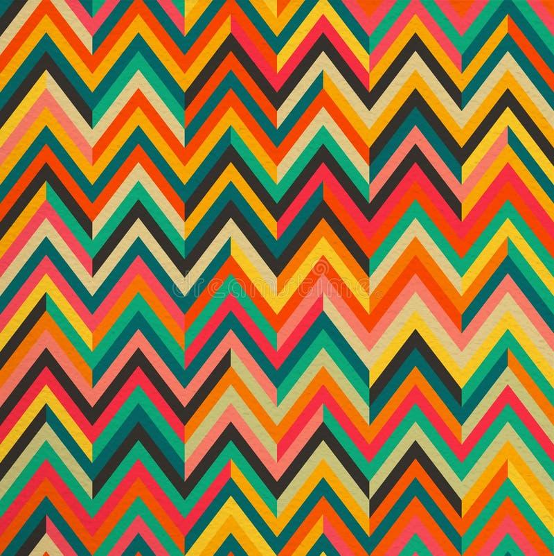 De abstracte achtergrond van het kleuren uitstekende retro naadloze patroon royalty-vrije illustratie