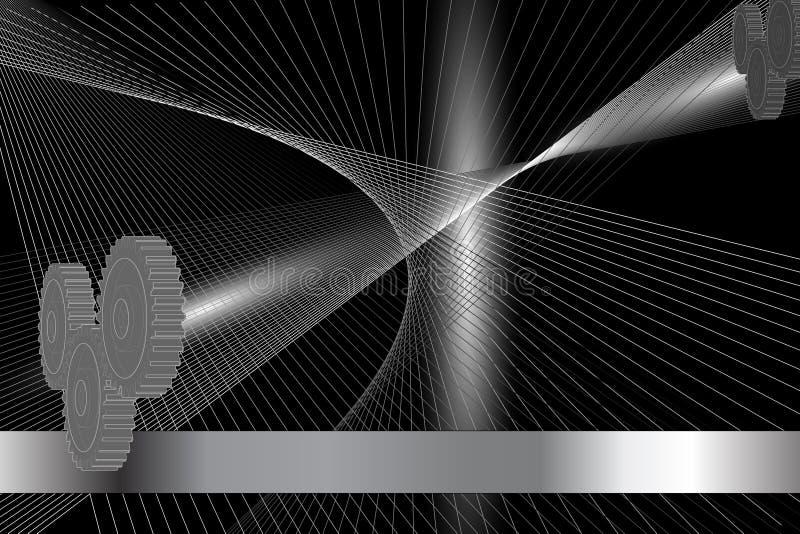 De abstracte achtergrond van het mechanisme vector illustratie
