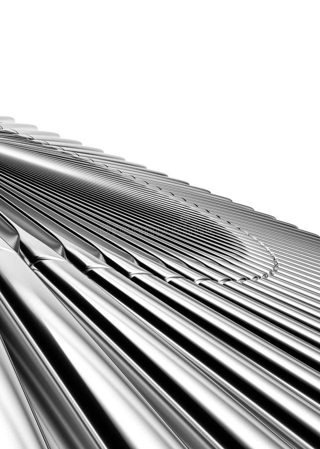 De abstracte achtergrond van het metaal stock foto's