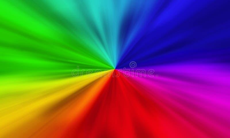De abstracte achtergrond van het de motieonduidelijke beeld van de regenbooggradiënt vector illustratie