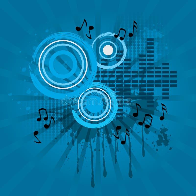 De abstracte achtergrond van het muziek correcte thema royalty-vrije illustratie