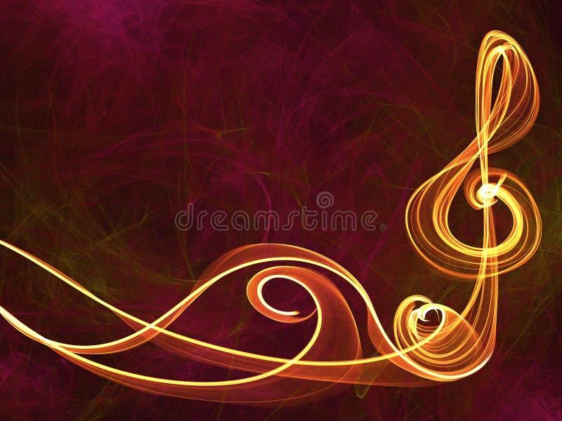 De abstracte achtergrond van het muziekteken vector illustratie