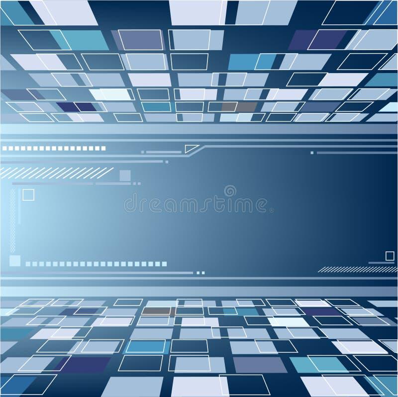De Abstracte Achtergrond van het perspectief vector illustratie