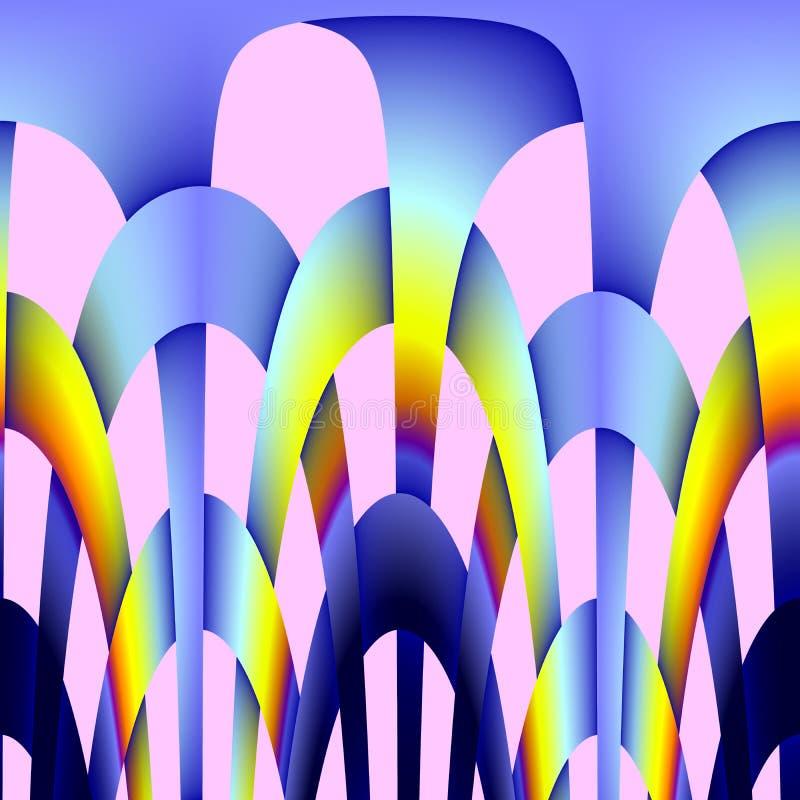 De abstracte achtergrond van het regenboogmetaal royalty-vrije illustratie